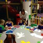 Our kids enjoying painting