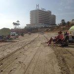 Well cleaned beach