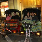 Winter is the best time for a pedicab restaurant tour.