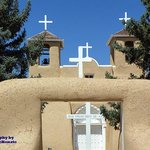 Crosses - front view of San Francisco de Asis Mission Church