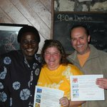 Richard and I with my dive master Dennis