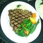 24oz Porterhouse Steak with house vegetables