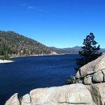View of Big Bear Lake near the dam