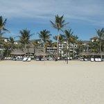 Beach area in front of resort