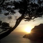 Sunset in the enchanting Capri..