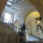 Main hallway of the 'hotel'.