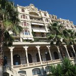 Hotel Miramare, now converted into private apartments. View from private garden.