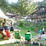 Summer events outside the Alpine Inn and the Snorting Elk