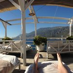 View from sunbeds