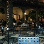 Outside dining undercover Parador Jarandilla de la Vera