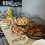 Una parte del buffet a colazione