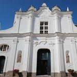 Quiet church piazza just around the corner to enjoy your gelato in