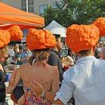 Head gear at Smorgasburg on the Taste of Williamsburg Brooklyn tour.