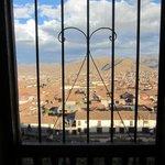 Cuzco vista da janela do quarto do Albergue