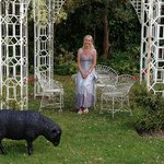 Me in The Rose Arbour - (sheep not real!)