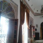 Tür und Fenster unseres Zimmers