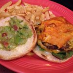 My brother's favorite PePe's creation to date - cheese enchiladaburger with guacamole. Not on th