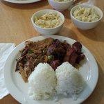 Combo plate - Kalua & Huli chicken