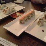 Salmon, spicy tuna, smoked Phili & Goodyear rolls...spool good