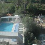 vista della piscina dalla mia stanza