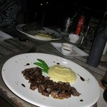 Teriyaki beef and wasabi mash - my fav of the two dishes!