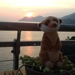 guisseppe on the deck at sunset