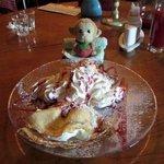 Pancake with ice-cream