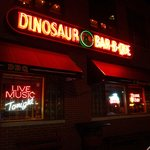 Tucked away on a side street, Dino's neon sign helps lure you inside.