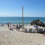 La plage face au Bloc 1