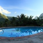 View from one of the two pools at La Haut