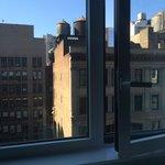 Windows open slightly for fresh air
