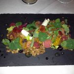 Goat cheese and beet appetizer