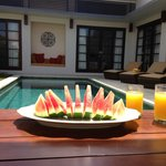 fruit by the pool