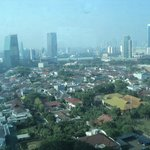 Jakarta city view from Room
