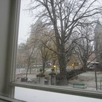 View from the Sweet. If it is not snowing, we can see the Chateau, much better.