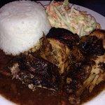 Jerk Chicken with Steamed Rice & Coleslaw