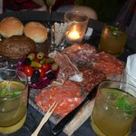 Green Cocktails with cold cut plate - DJ Konka night