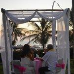 Romantic dinner at Parasol Garden
