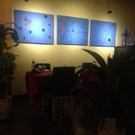 paintings on the wall of Ravioli Factory