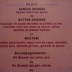 une partie du menu à 30€ : choix Multani