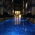 Pool at night. . .nice