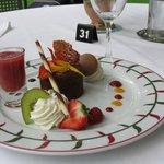 Le dessert : fondant au chocolat