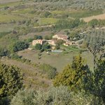 View from the road looking down on Podere Felceto