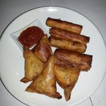 African cigars and samosa type entrée