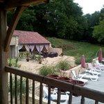 jolie vue depuis le balcon privé de la swiming pool!