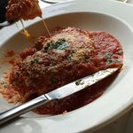 Lasagna was spot on. Delicious red sauce.