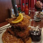 Saturday Brunch Fried Chicken and Waffle