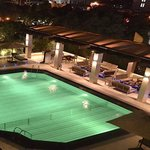 The pool side open air lounge & bar.