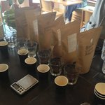 Cupping Horsham Roaster coffees