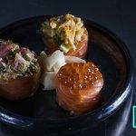 Spicy inari & salmon eggs